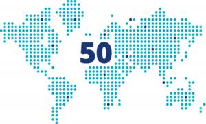 Tenemos clientes en más de 50 países