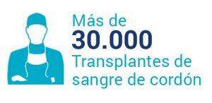 Más de 30.000 transplantes de sangre de cordón