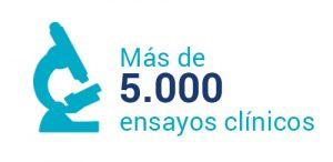 Más de 5.000 ensayos clínicos